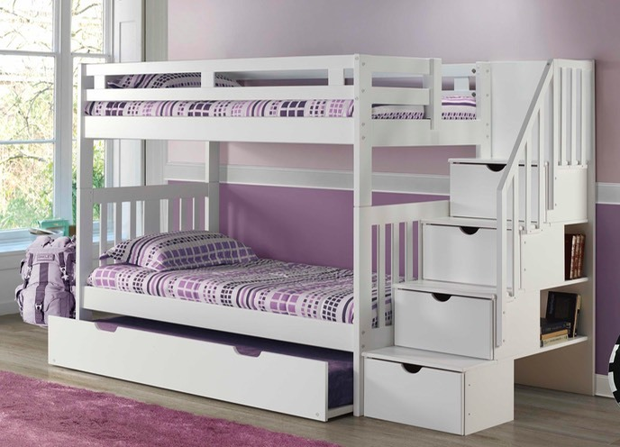 Innovations - Naples Bunkbed - White with Staircase